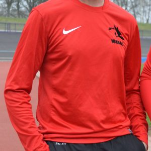 Adult Red Long Sleeve Nike Performance Top