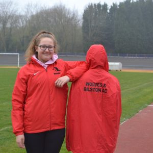 Youth Red Nike Showerproof Jacket c/w hood and 2 front zip pockets