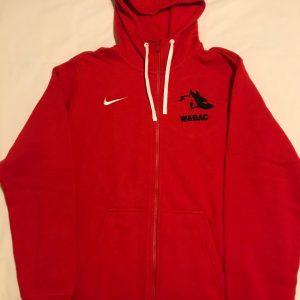 Adult Red Nike Full Zip Hoodie