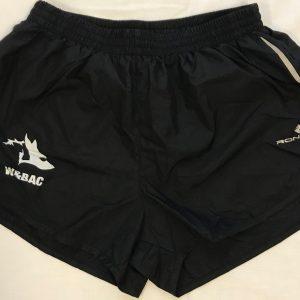 Boys Black Nylon Race Shorts (Ron Hill)